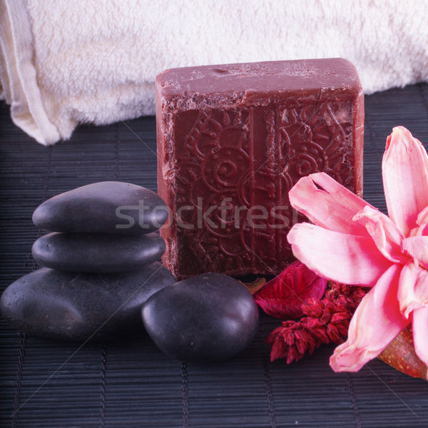 Soap, stones and flowers Stock photo © Koufax73