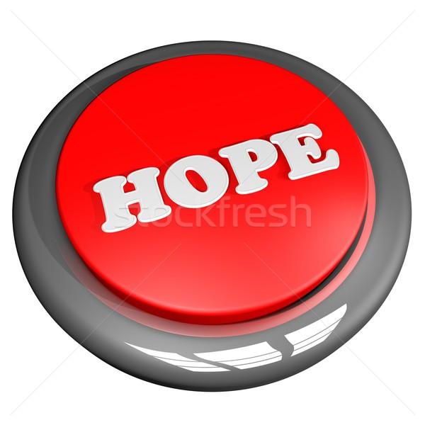 Speranza pulsante isolato bianco piazza immagine Foto d'archivio © Koufax73