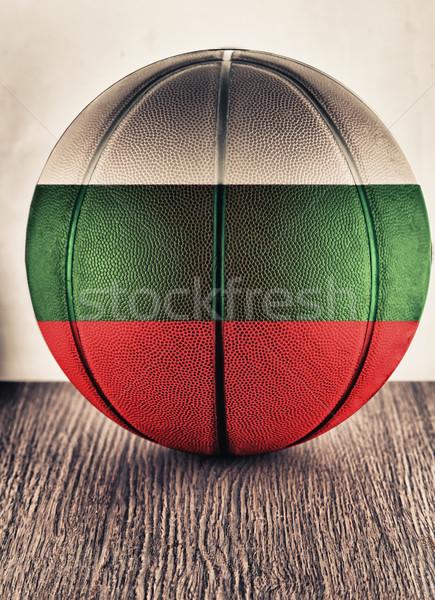 Bulgarije basketbal oude leder vlag Stockfoto © Koufax73