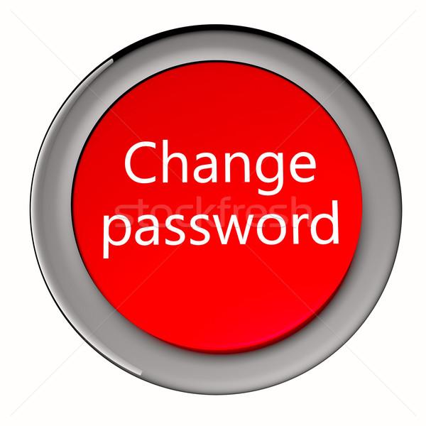 Cambio contraseña rojo botón texto 3d Foto stock © Koufax73