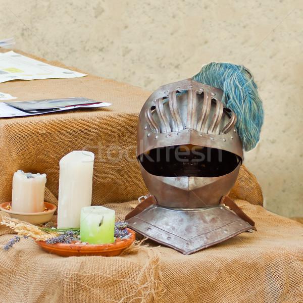 Vecchio mezzo età ferro guerra testa Foto d'archivio © Koufax73