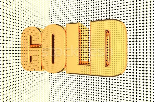 Altın kelime 3d render iş para Stok fotoğraf © Koufax73