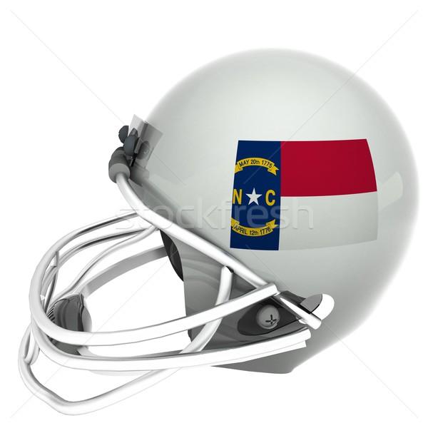 Carolina del Nord calcio bandiera casco rendering 3d piazza Foto d'archivio © Koufax73