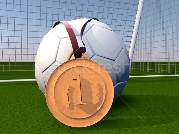 Football and gold medal Stock photo © Koufax73
