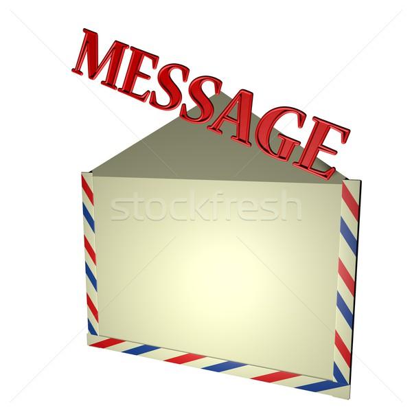üzenet szó ki boríték izolált fehér Stock fotó © Koufax73