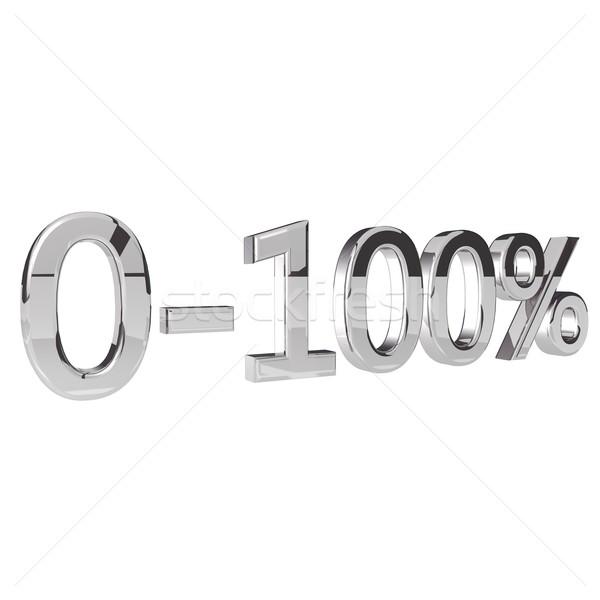 Pourcentage isolé blanche rendu 3d carré image Photo stock © Koufax73