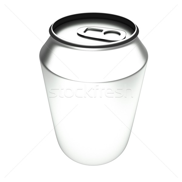 Aluminio pueden 3D blanco 3d cuadrados Foto stock © Koufax73