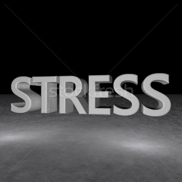 ストレス 言葉 アスファルト 暗闇の中 水平な 画像 ストックフォト © Koufax73