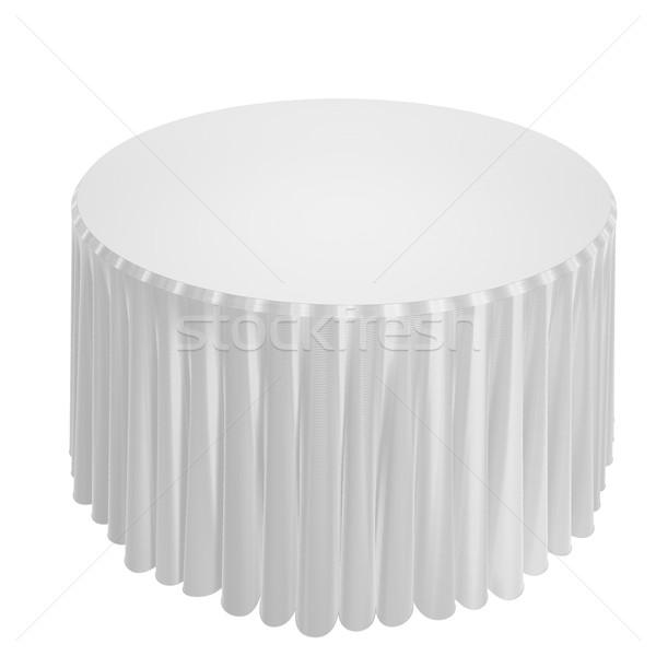 Mesa blanco elegante tela aislado 3d Foto stock © Koufax73