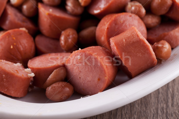 Wurstels and beans Stock photo © Koufax73