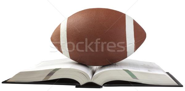 футбола книга открытых большой Сток-фото © Koufax73