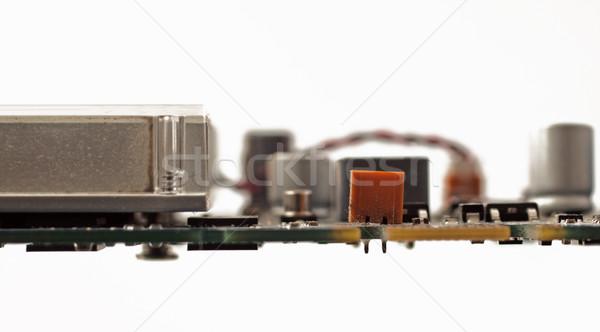 Moederbord weinig oude ondiep computer Stockfoto © Koufax73
