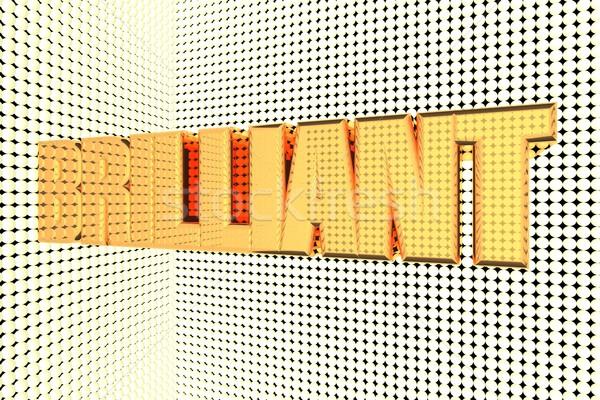 Brillante parola oro rendering 3d sfondo Foto d'archivio © Koufax73