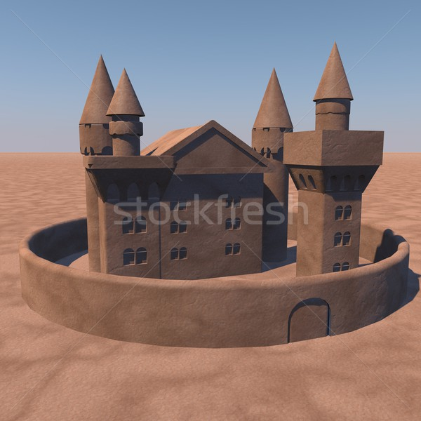 Castle of sand Stock photo © Koufax73