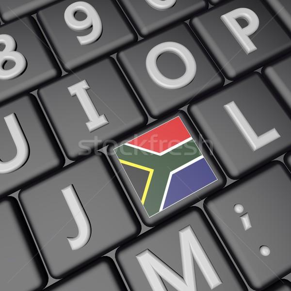 南アフリカ キー フラグ キーボード 3dのレンダリング 広場 ストックフォト © Koufax73