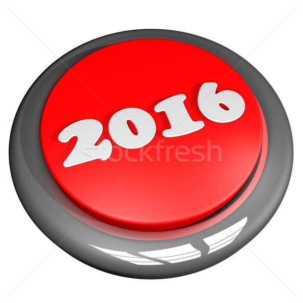 2015 2016 düğme kırmızı yalıtılmış beyaz Stok fotoğraf © Koufax73