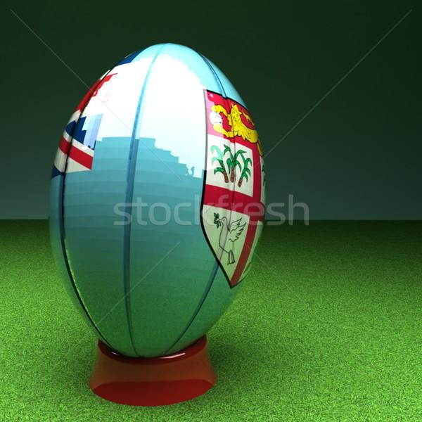 Fiji rugby bandeira grama verde campo Foto stock © Koufax73