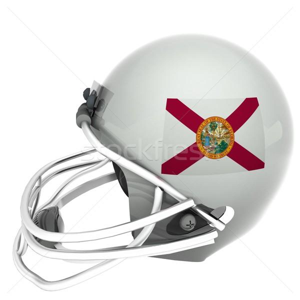 Флорида футбола флаг шлема 3d визуализации изолированный Сток-фото © Koufax73