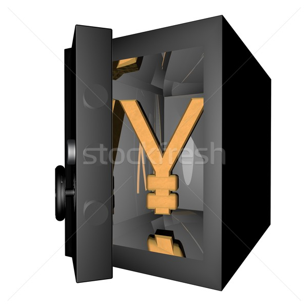 Yen simbolo rendering 3d banca Foto d'archivio © Koufax73