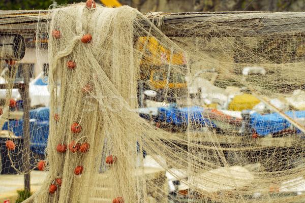 Résille bateaux Retour ciel eau Photo stock © Koufax73