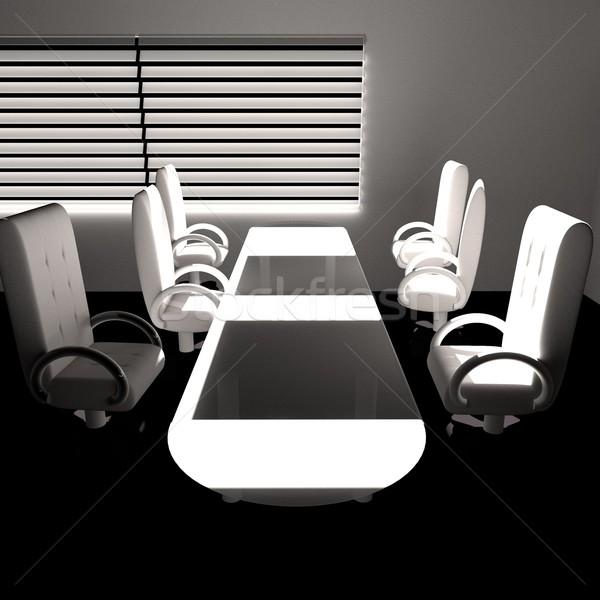 ストックフォト: 会議室 · 光 · 3dのレンダリング · 広場 · 画像 · 会議