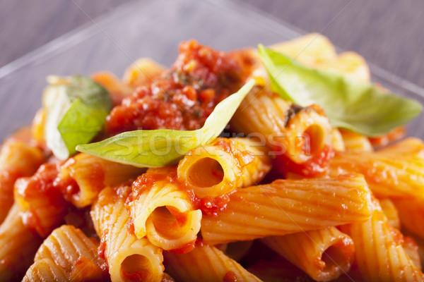 パスタ プレート イタリア語 水平な 画像 食品 ストックフォト © Koufax73