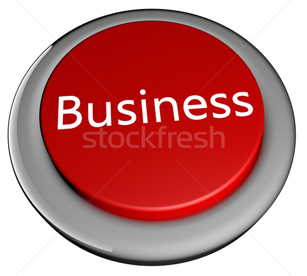 Iş düğme kırmızı metin yalıtılmış beyaz Stok fotoğraf © Koufax73