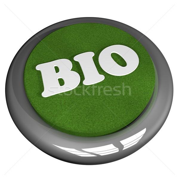 Bio gomb izolált fehér 3d render felirat Stock fotó © Koufax73