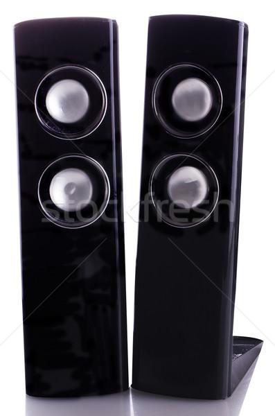 Nero verticale isolato bianco riflessione musica Foto d'archivio © Koufax73