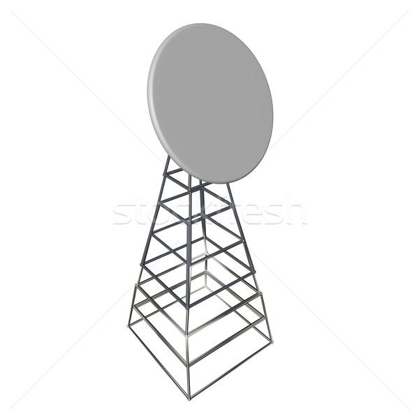 Antena aislado blanco 3d cuadrados imagen Foto stock © Koufax73
