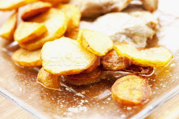 Patates cam plaka sığ alan yatay Stok fotoğraf © Koufax73