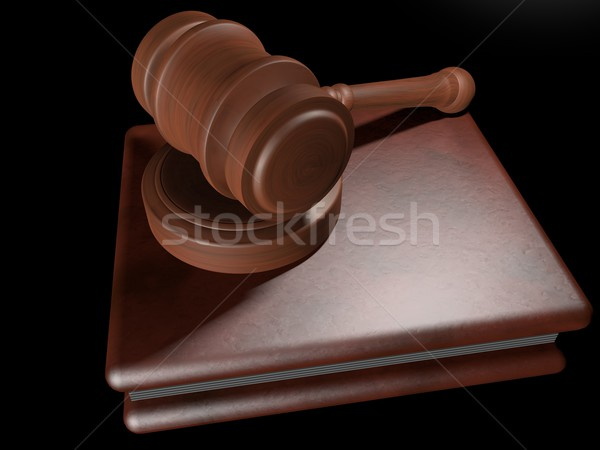 Judge hammer over book Stock photo © Koufax73