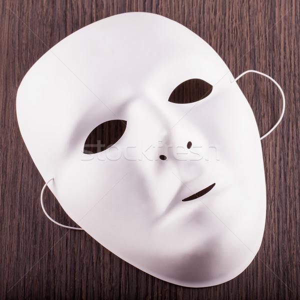 Biały maska drewna placu obraz Zdjęcia stock © Koufax73