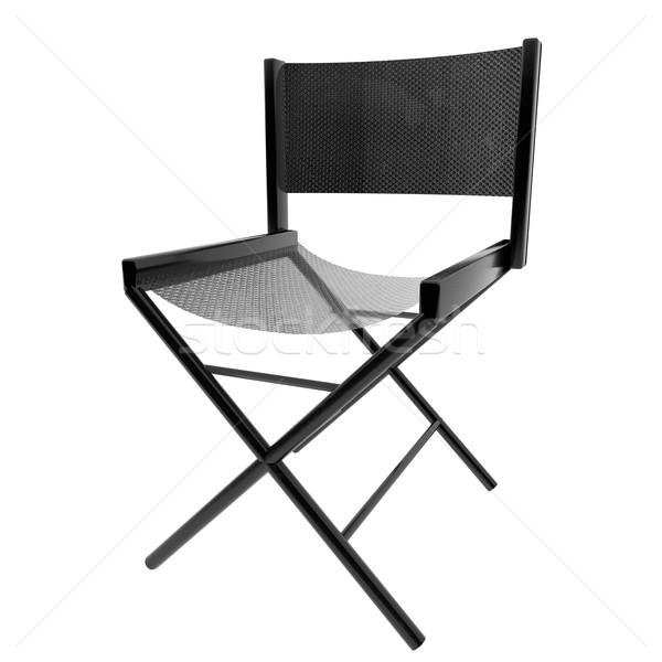 Siyah sandalye 3D yalıtılmış beyaz 3d render Stok fotoğraf © Koufax73