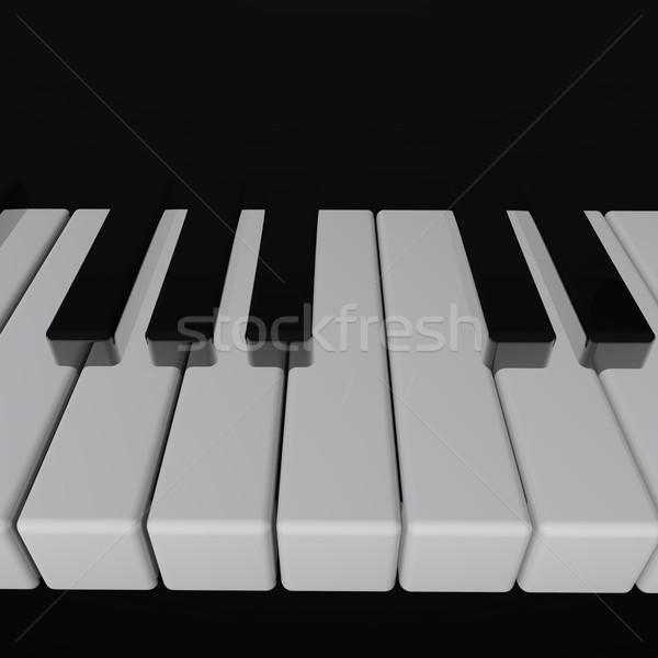Сток-фото: клавиши · пианино · фортепиано · клавиатура · 3d · визуализации · искусства