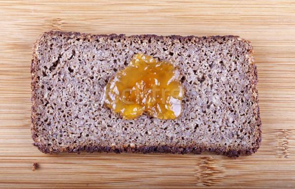 Jam on rye bread Stock photo © Koufax73