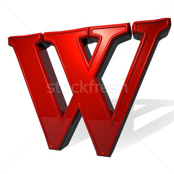 Letter W Stock photo © Koufax73