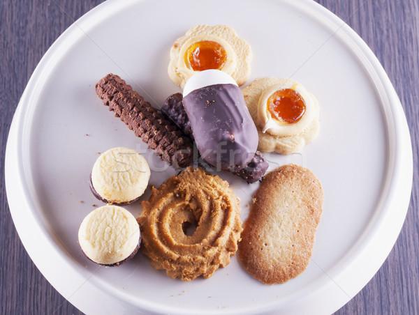 Biscoitos branco suporte diferente horizontal imagem Foto stock © Koufax73