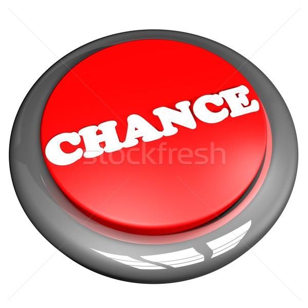 шанс кнопки изолированный белый 3d визуализации бизнеса Сток-фото © Koufax73
