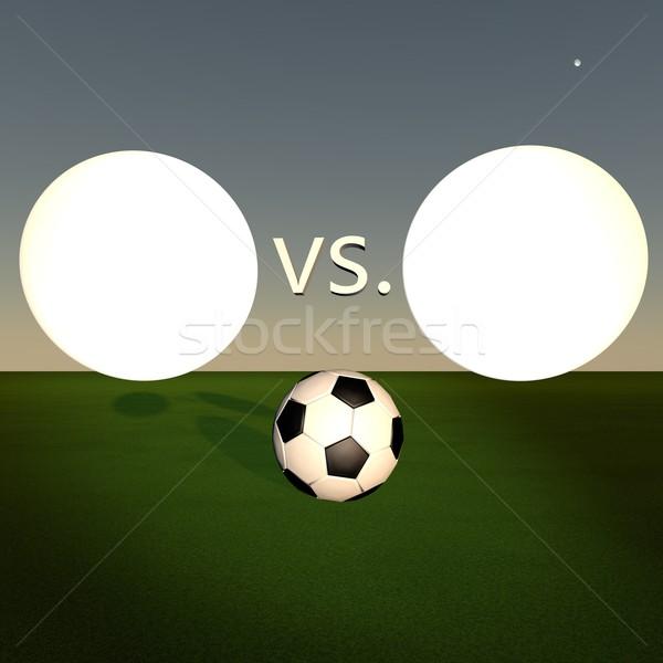 Fútbol juego escena espacio de la copia símbolos equipo Foto stock © Koufax73