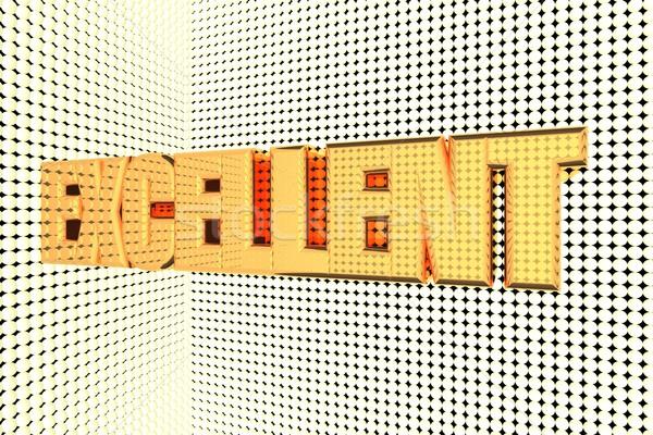 Ottimo parola oro rendering 3d sfondo Foto d'archivio © Koufax73