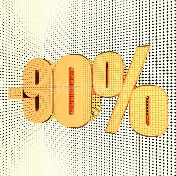 割引 パーセンテージ 金 3dのレンダリング ストックフォト © Koufax73