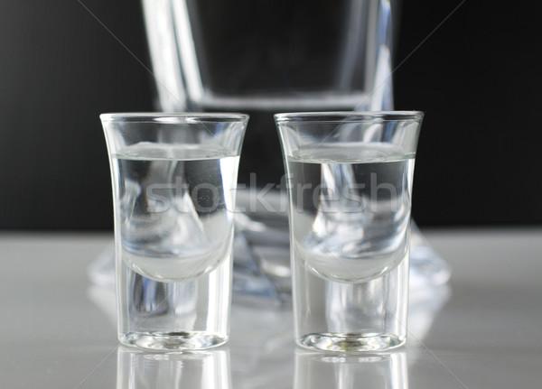 Iki küçük gözlük şeffaf sıvı cam Stok fotoğraf © Koufax73