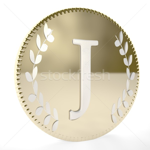Coin J Stock photo © Koufax73