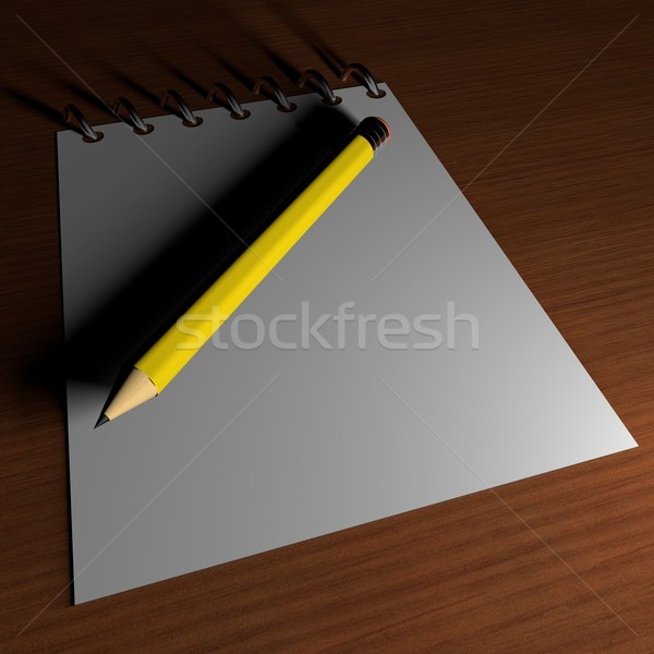 Notebook and pencil Stock photo © Koufax73