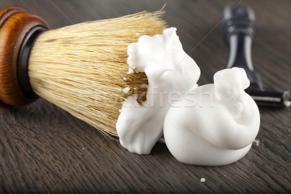 Mousse brosse rasoir Retour eau Photo stock © Koufax73