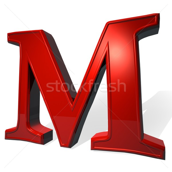 Letter M Stock photo © Koufax73