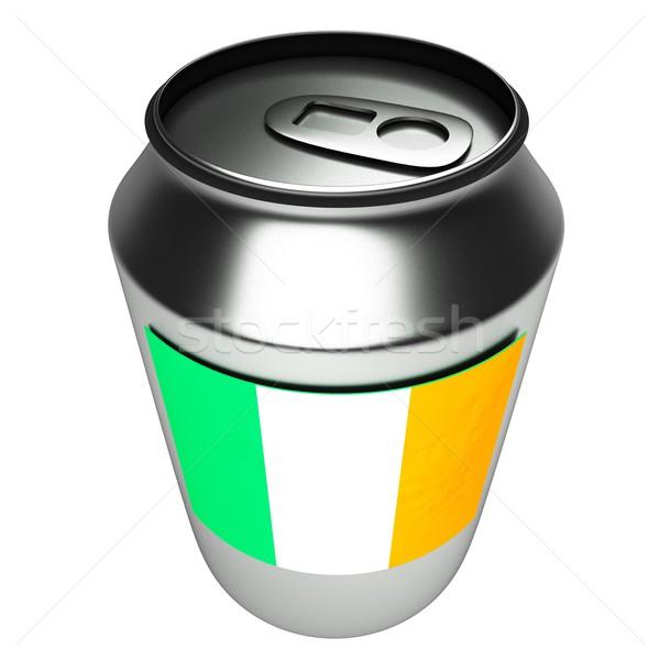 Irlandês lata 3D bandeira alumínio 3d render Foto stock © Koufax73