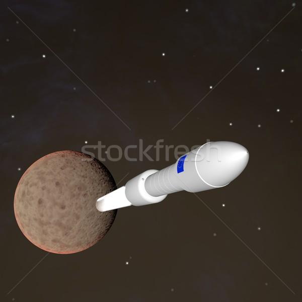 Fusée battant loin planète rendu 3d Photo stock © Koufax73