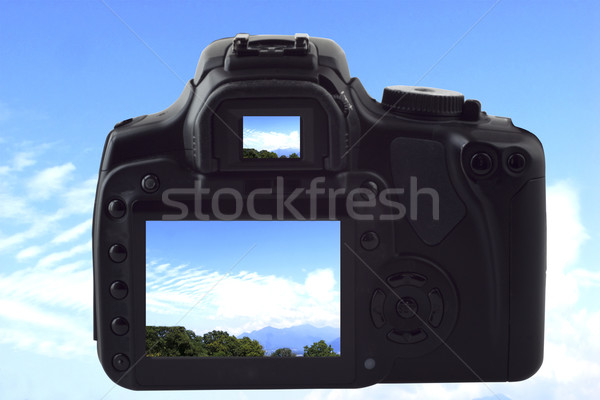 Photocamera shooting sky Stock photo © Koufax73